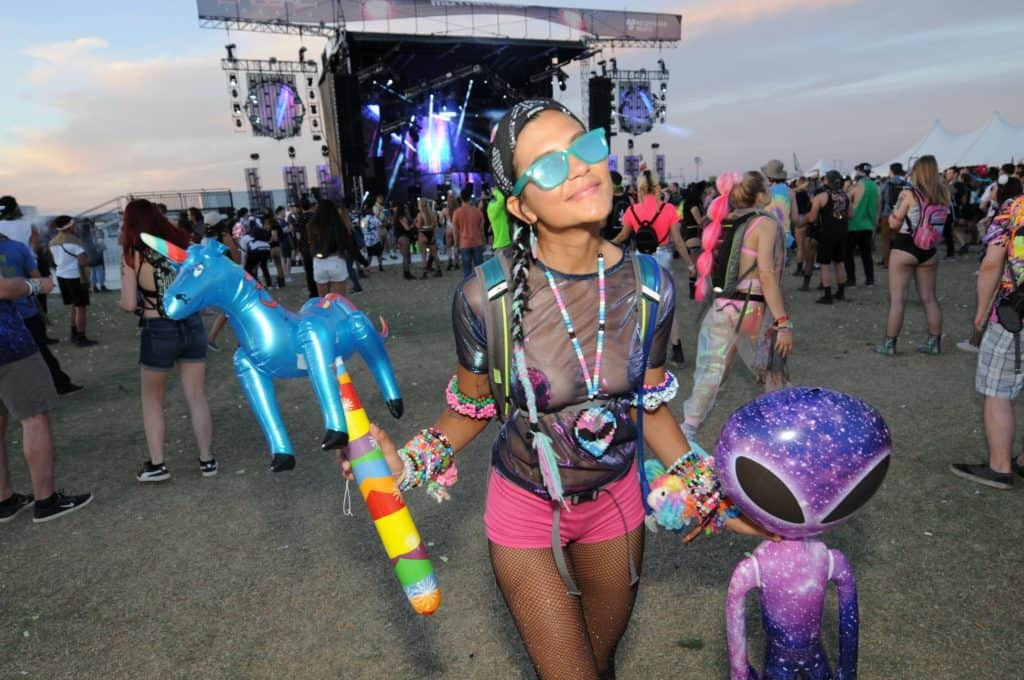 An attendee of the Phoenix Lights music festival in 2019.